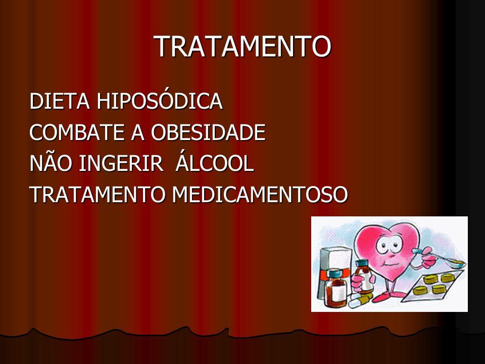 TRATAMENTO DIETA HIPOSÓDICA COMBATE A OBESIDADE NÃO INGERIR ÁLCOOL
