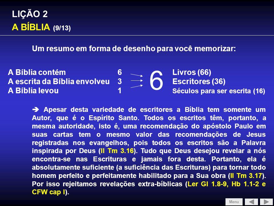6 SLIDE 1/4 LIÇÃO 2 A BÍBLIA (9/13)