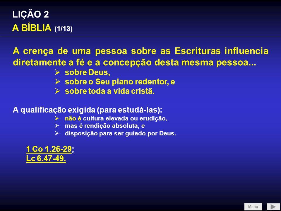 SLIDE 1/4 LIÇÃO 2 A BÍBLIA (1/13)
