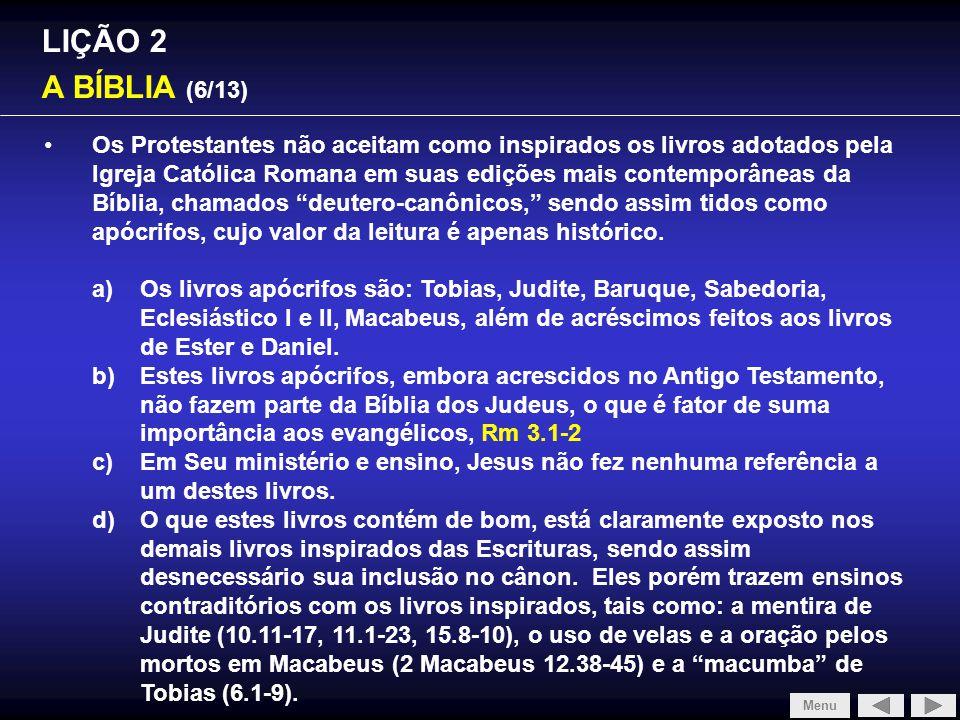 SLIDE 1/4 LIÇÃO 2 A BÍBLIA (6/13)