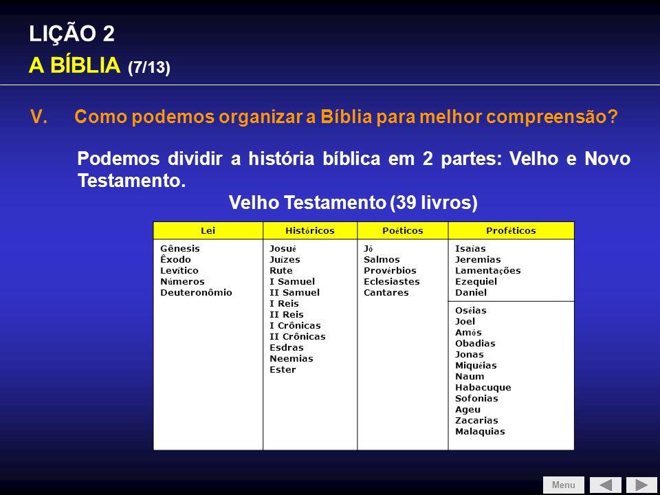 Velho Testamento (39 livros)