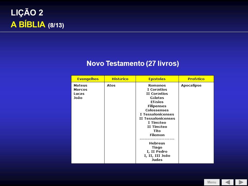 Novo Testamento (27 livros) ----------------------