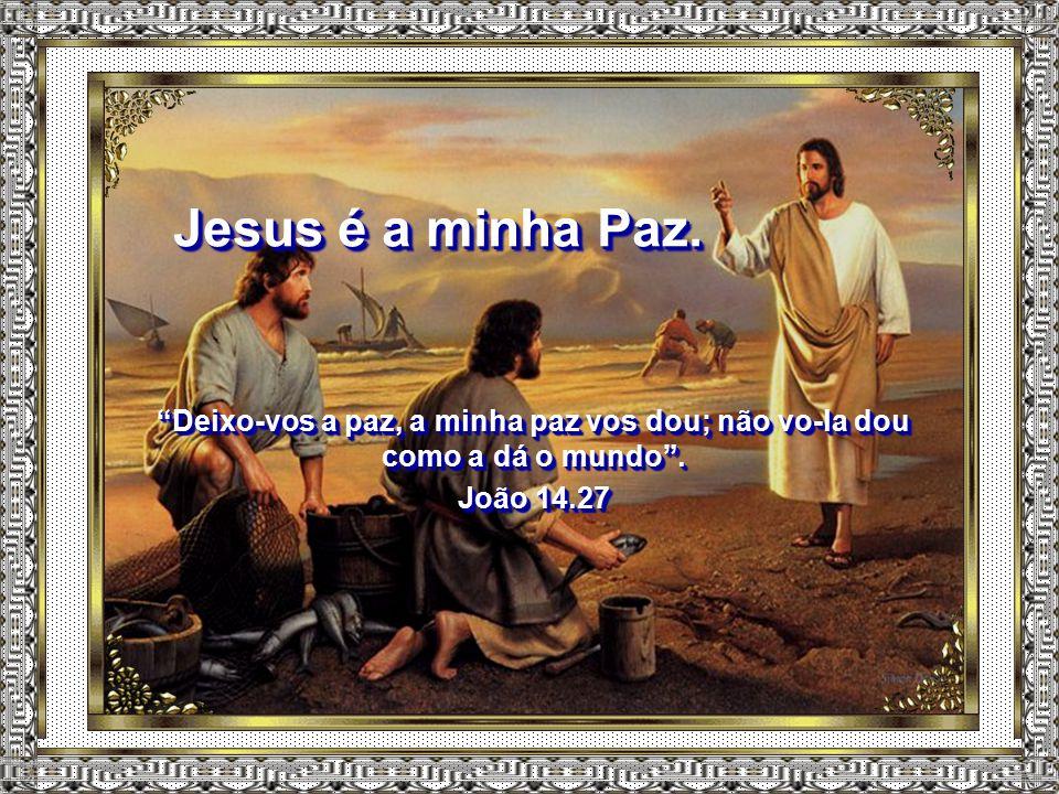 Jesus é a minha Paz. Deixo-vos a paz, a minha paz vos dou; não vo-la dou como a dá o mundo .