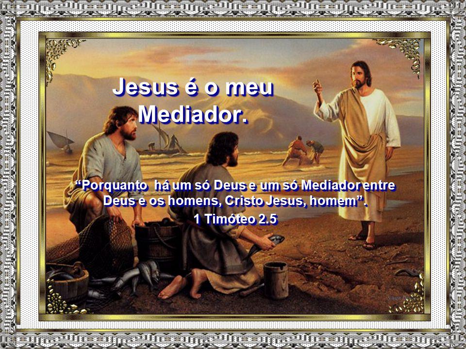 Jesus é o meu Mediador. Porquanto há um só Deus e um só Mediador entre Deus e os homens, Cristo Jesus, homem .