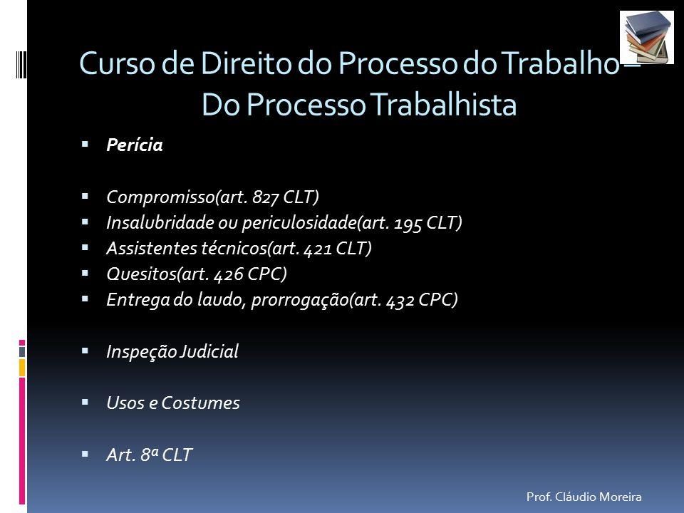 Curso de processo do trabalho 2016