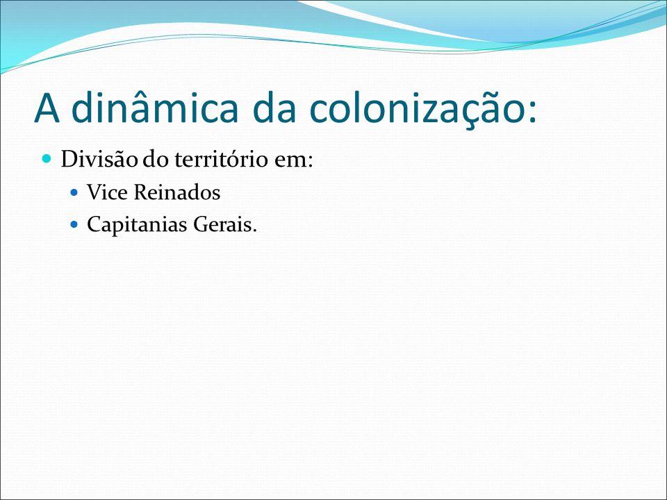 A dinâmica da colonização: