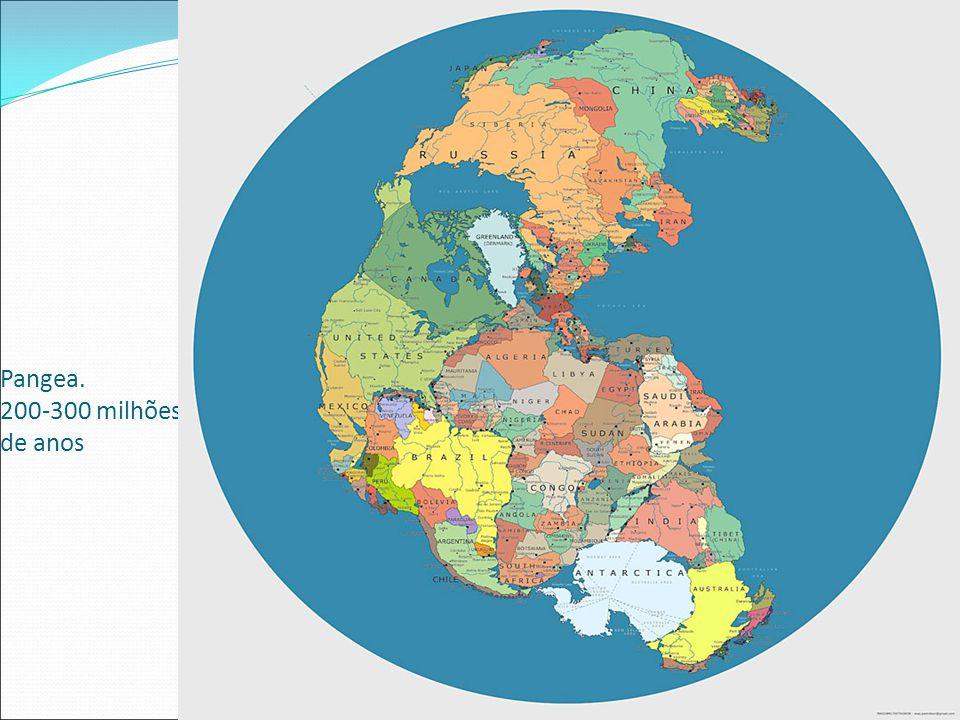 Pangea. 200-300 milhões de anos
