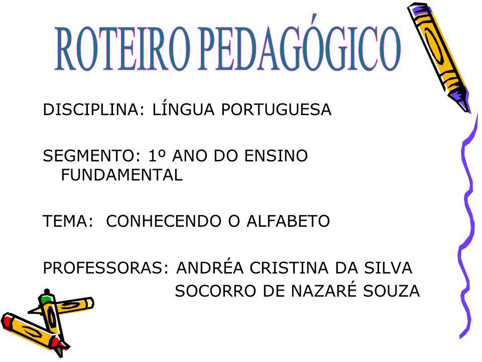 ROTEIRO PEDAGÓGICO DISCIPLINA: LÍNGUA PORTUGUESA