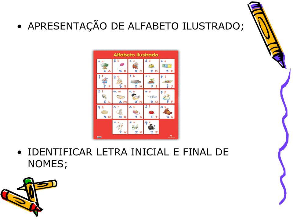 APRESENTAÇÃO DE ALFABETO ILUSTRADO;