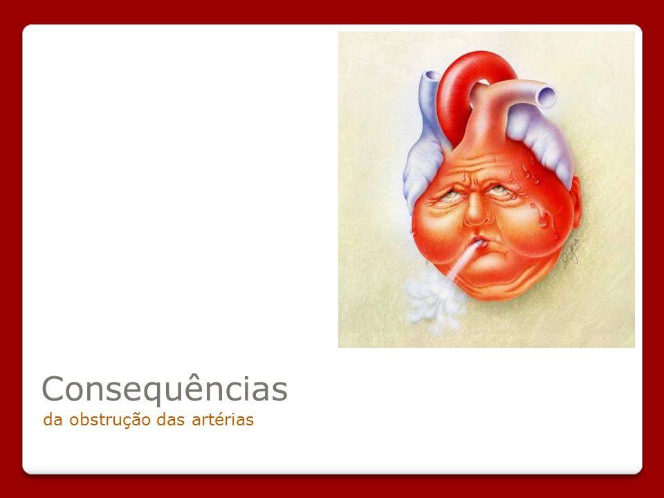 Consequências da obstrução das artérias