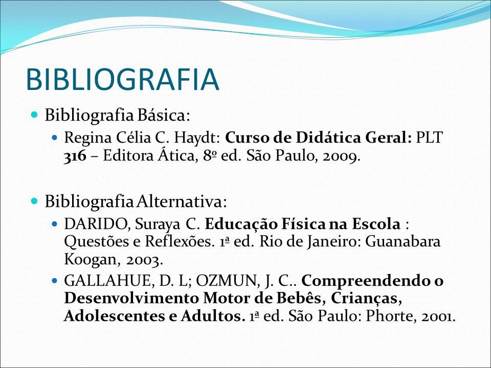 BIBLIOGRAFIA Bibliografia Básica: Bibliografia Alternativa: