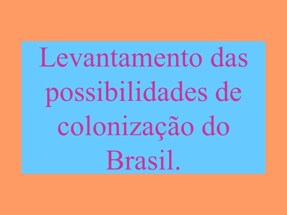 Levantamento das possibilidades de colonização do Brasil.