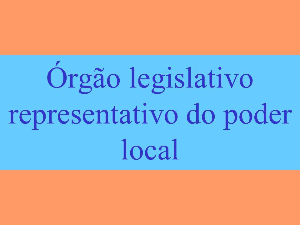 Órgão legislativo representativo do poder local