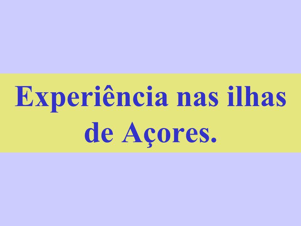 Experiência nas ilhas de Açores.