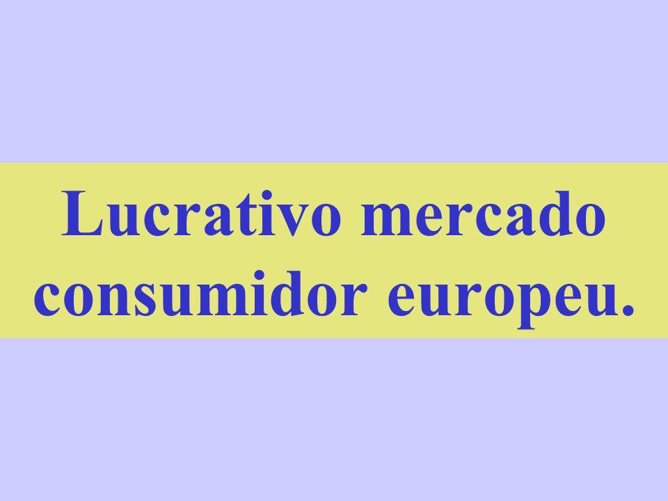 Lucrativo mercado consumidor europeu.