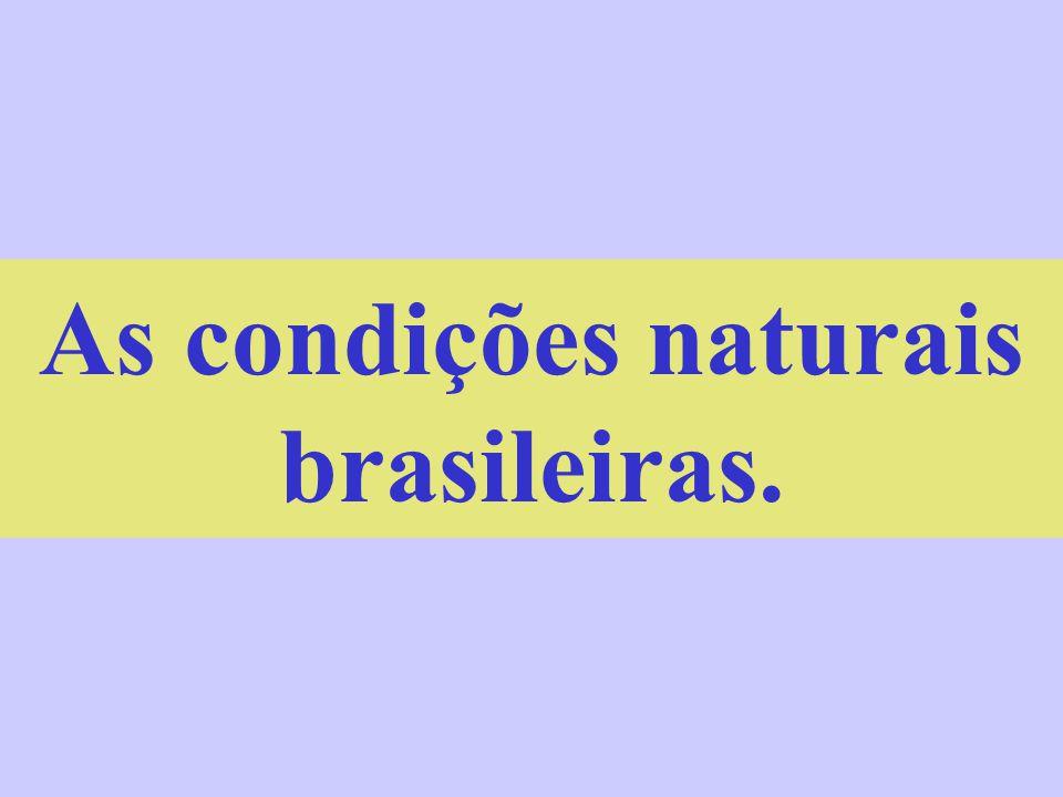As condições naturais brasileiras.