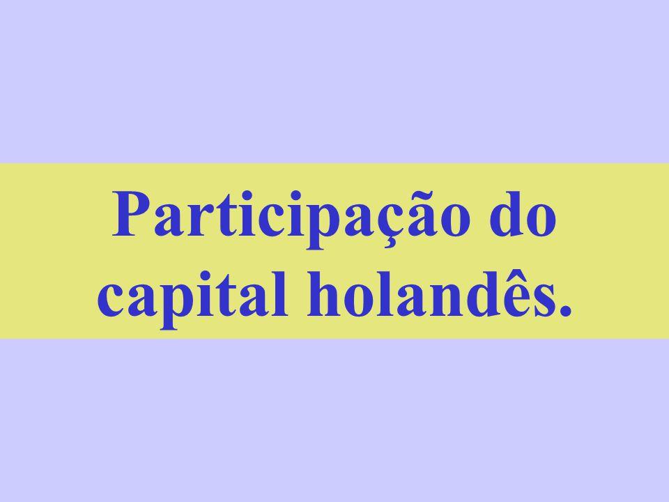 Participação do capital holandês.