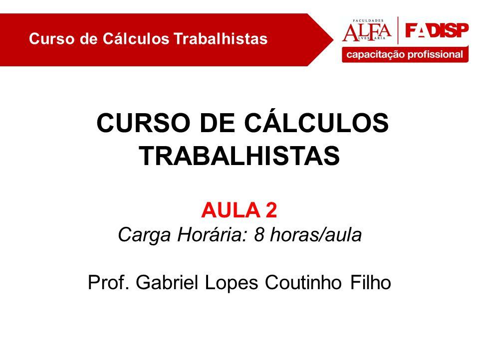 Curso de calculos trabalhistas