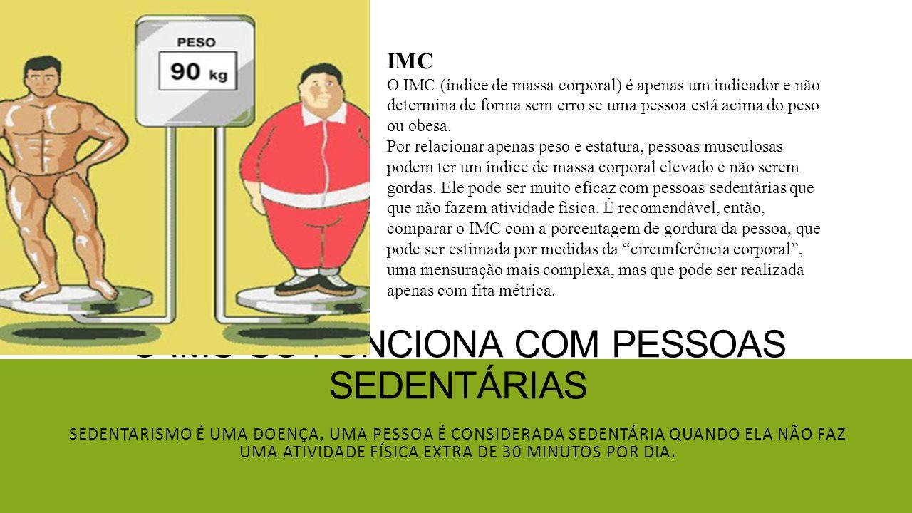 O IMC só funciona com pessoas sedentárias