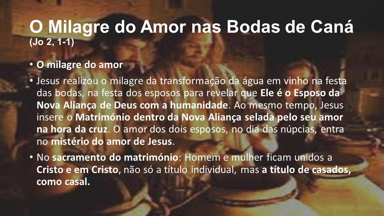 O Milagre Do Amor Nas Bodas De Caná (Jo 2, 1-1)