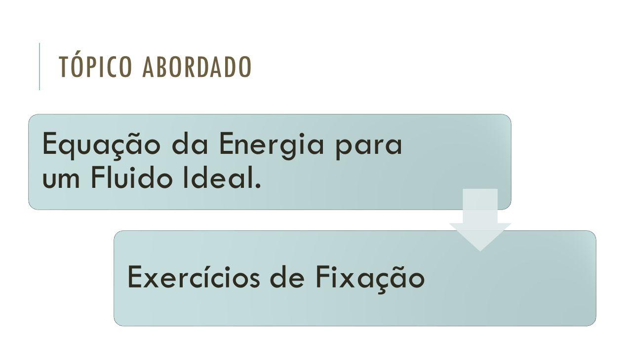 Equação da Energia para um Fluido Ideal.