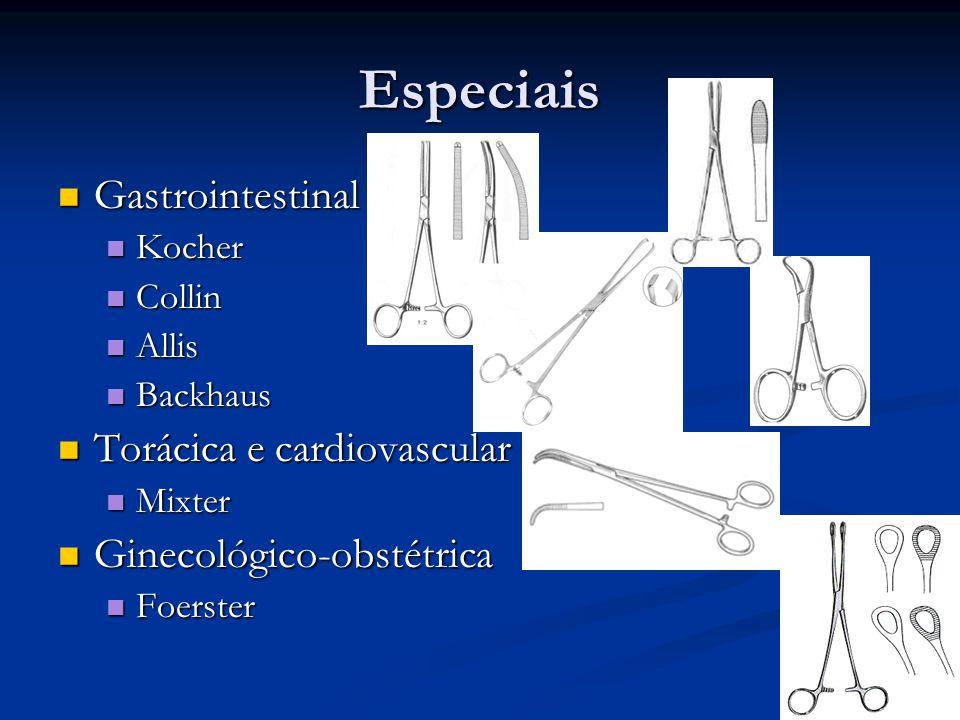 Especiais Gastrointestinal Torácica e cardiovascular