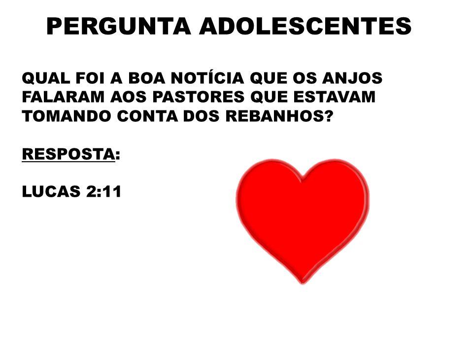 PERGUNTA ADOLESCENTES
