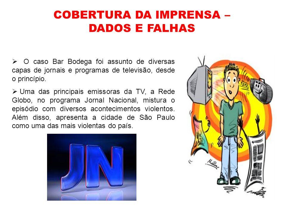 COBERTURA DA IMPRENSA – DADOS E FALHAS
