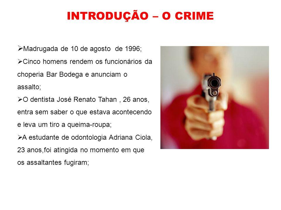 INTRODUÇÃO – O CRIME Madrugada de 10 de agosto de 1996;