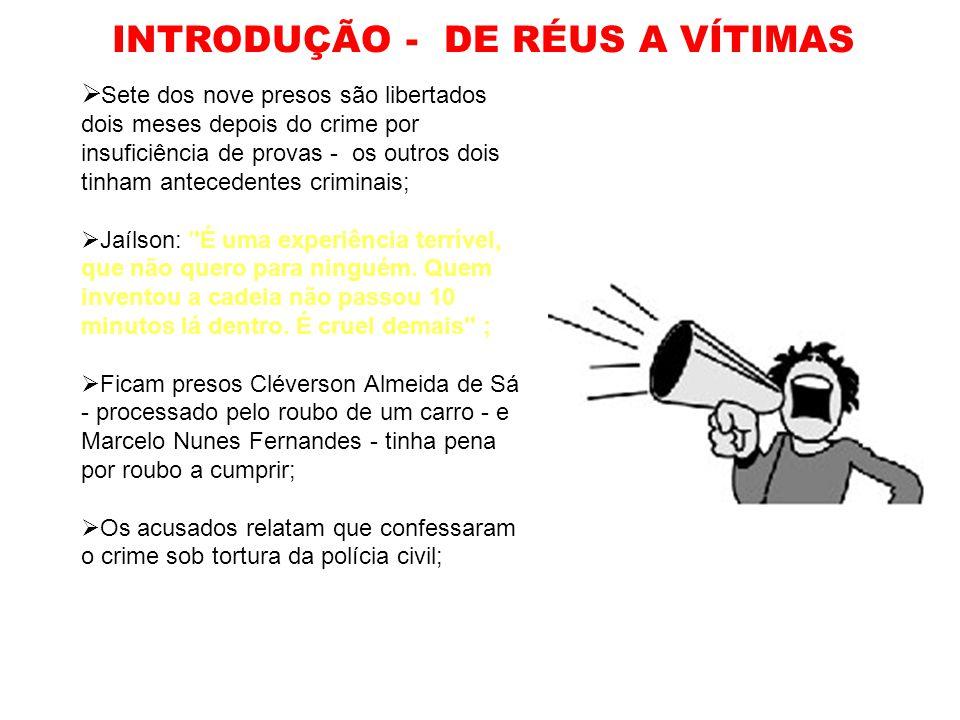 INTRODUÇÃO - DE RÉUS A VÍTIMAS