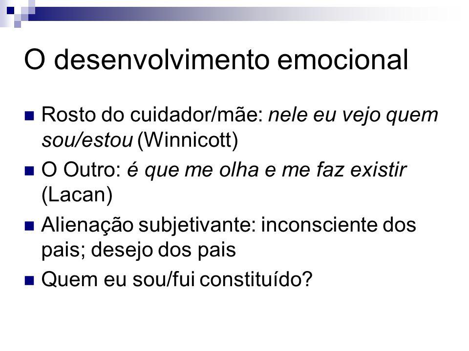 O desenvolvimento emocional