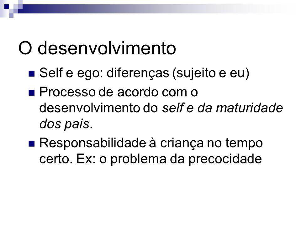 O desenvolvimento Self e ego: diferenças (sujeito e eu)