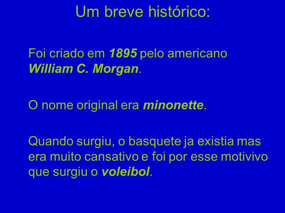 Um breve histórico: Foi criado em 1895 pelo americano William C. Morgan. O nome original era minonette.