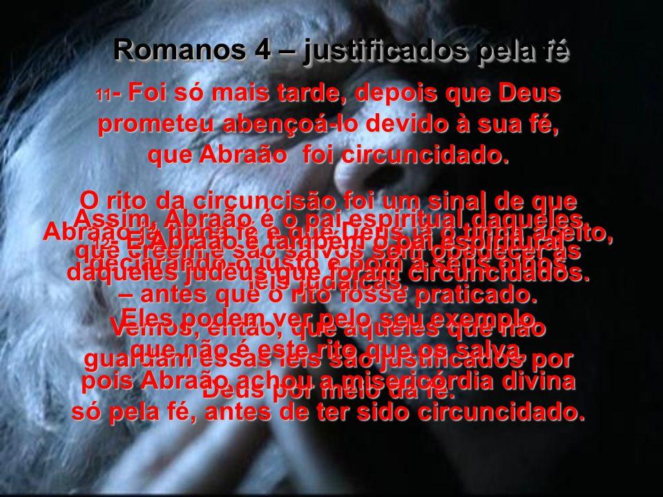 Romanos 4 – justificados pela fé