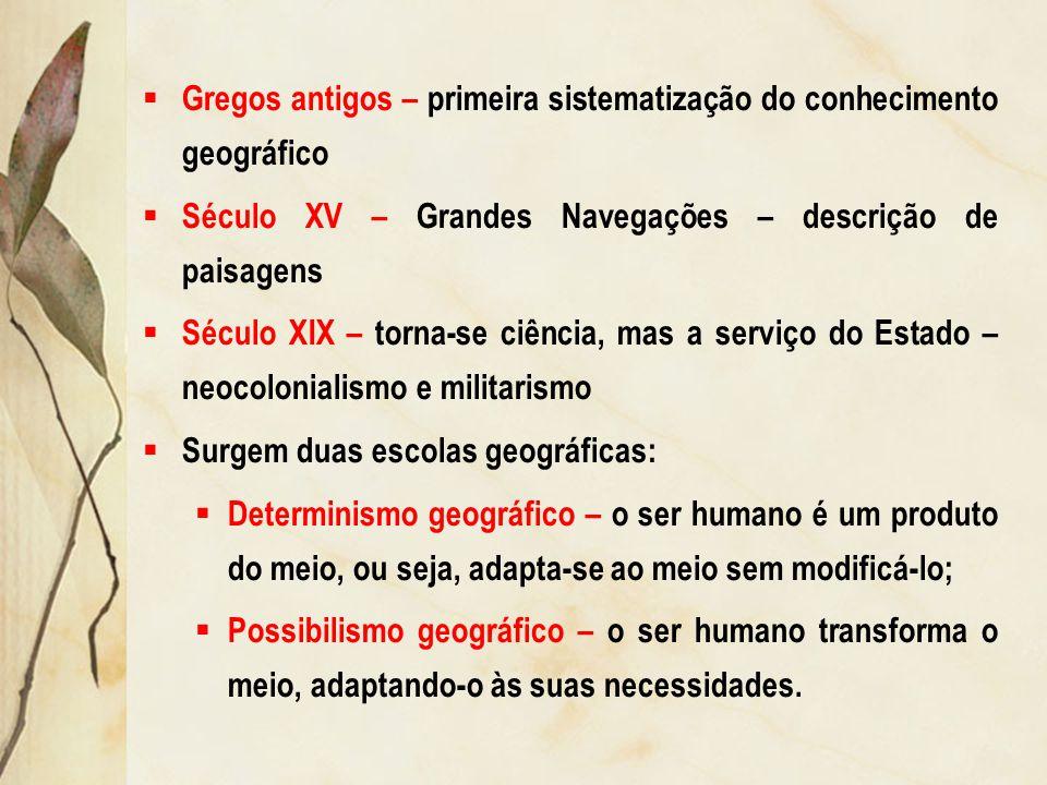 Gregos antigos – primeira sistematização do conhecimento geográfico