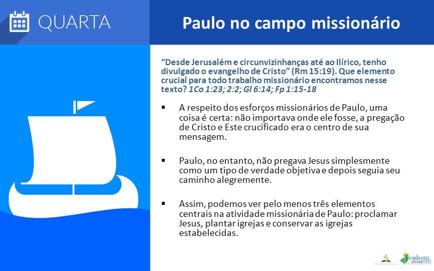 Paulo no campo missionário