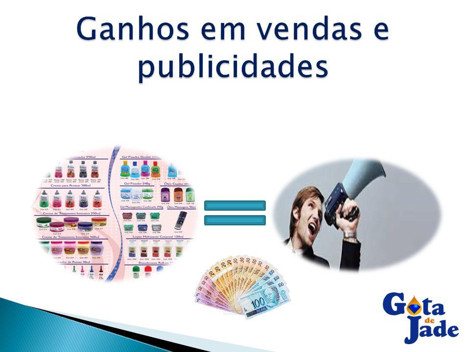 Ganhos em vendas e publicidades