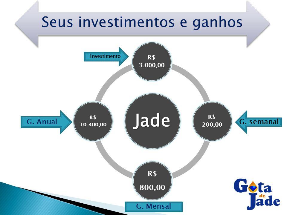 Seus investimentos e ganhos