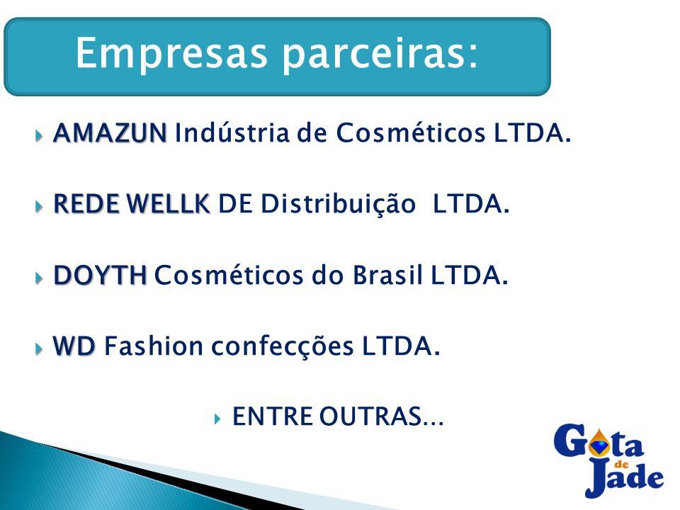 Empresas parceiras: : AMAZUN Indústria de Cosméticos LTDA.