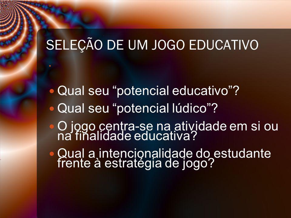 SELEÇÃO DE UM JOGO EDUCATIVO