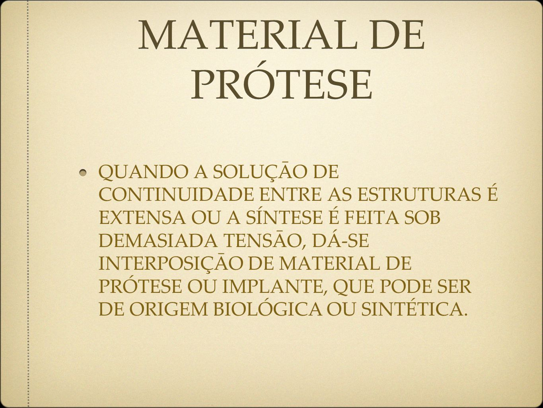 MATERIAL DE PRÓTESE