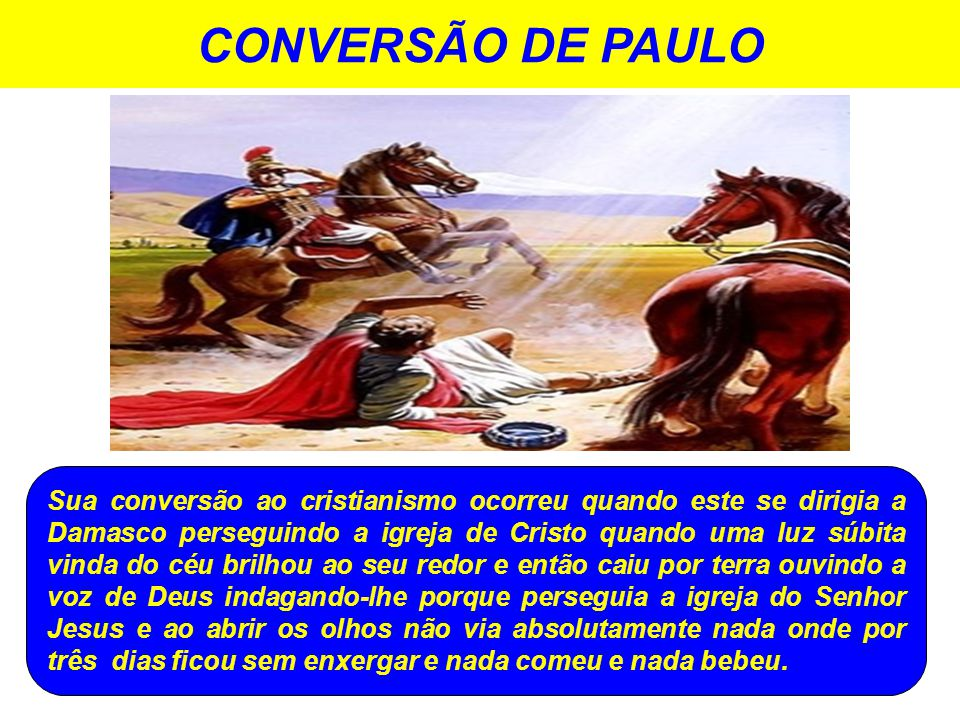 CONVERSÃO DE PAULO