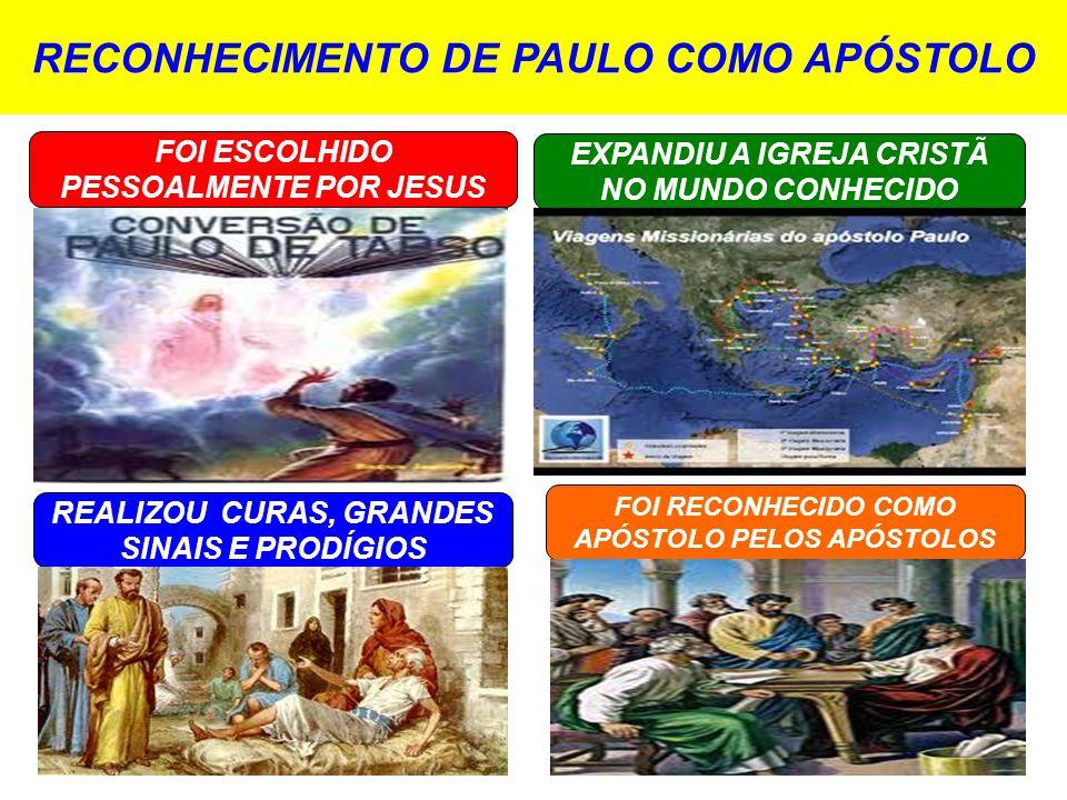 RECONHECIMENTO DE PAULO COMO APÓSTOLO