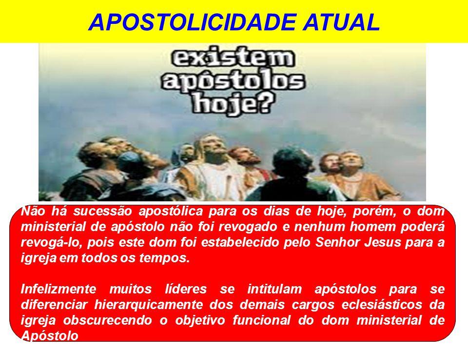 APOSTOLICIDADE ATUAL