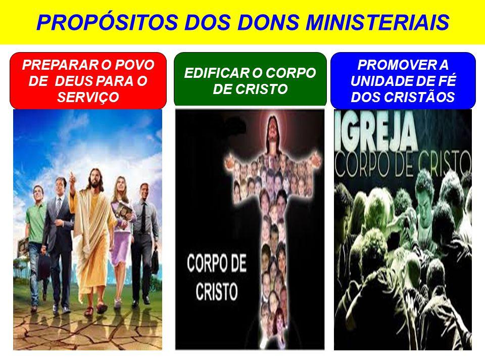 PROPÓSITOS DOS DONS MINISTERIAIS