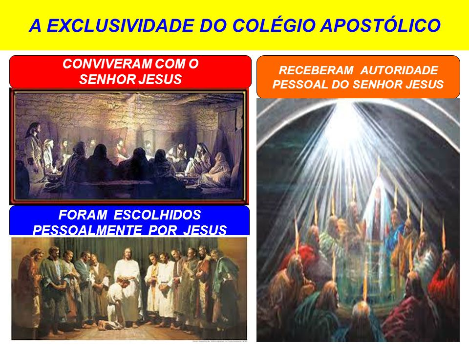 A EXCLUSIVIDADE DO COLÉGIO APOSTÓLICO