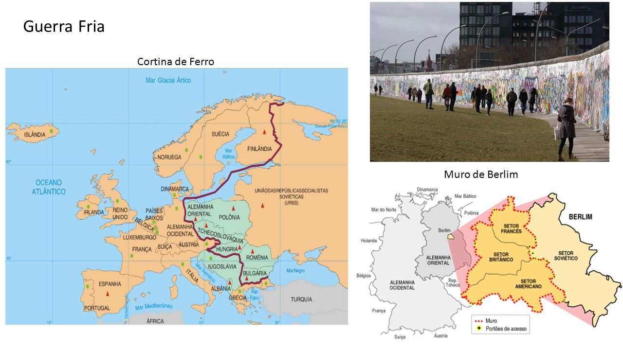 Guerra Fria Cortina de Ferro Muro de Berlim