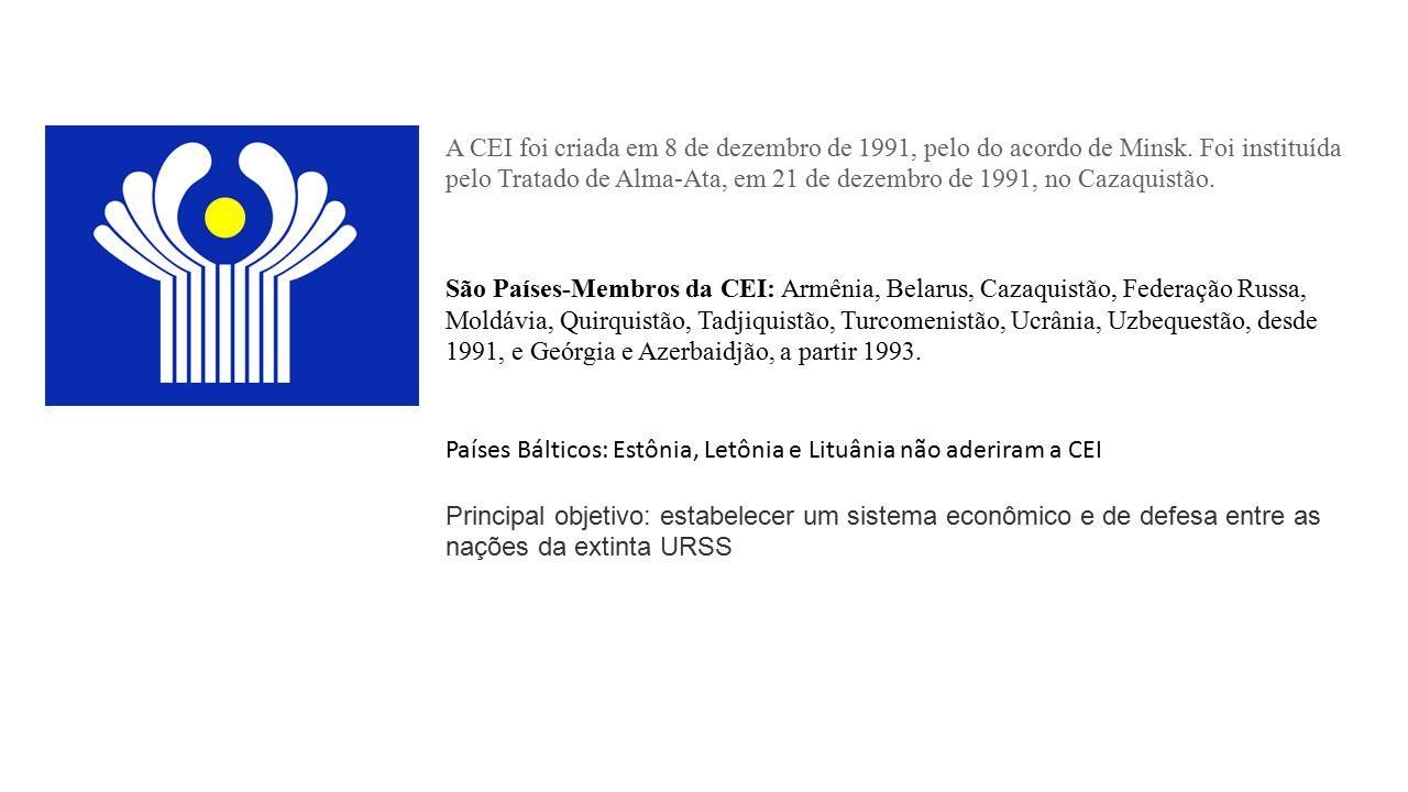 A CEI foi criada em 8 de dezembro de 1991, pelo do acordo de Minsk