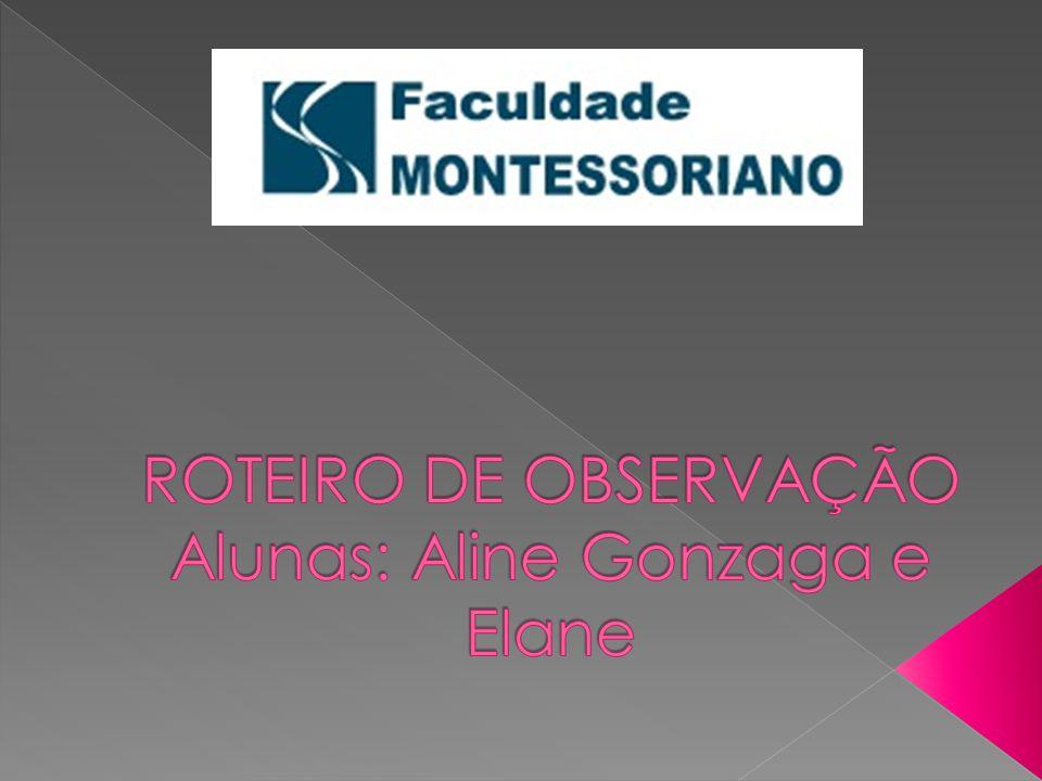 ROTEIRO DE OBSERVAÇÃO Alunas: Aline Gonzaga e Elane