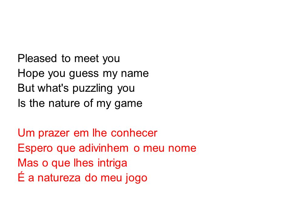 pleased to meet you hope guess my name mp3